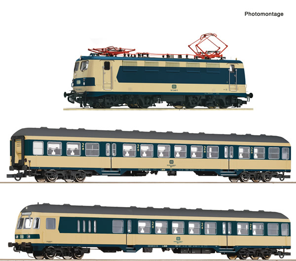 Roco 61485 - 3 piece set: German The Karlsruhe train of the DB (Sound)