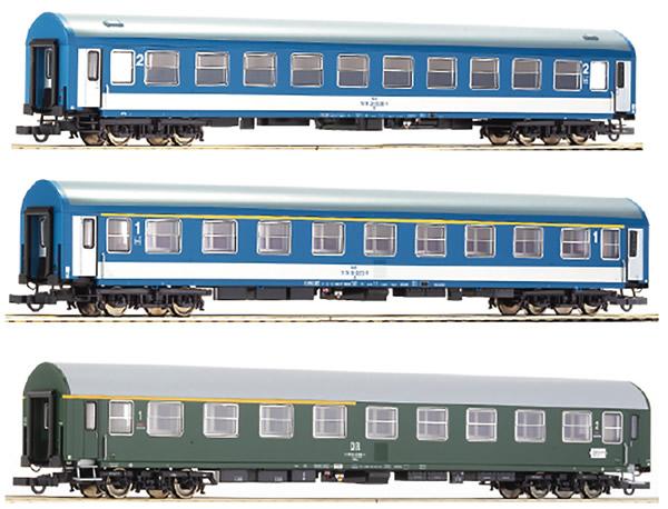 Roco 64195 - German 3 Piece Passenger Car Set Berlinaren Express of the DR