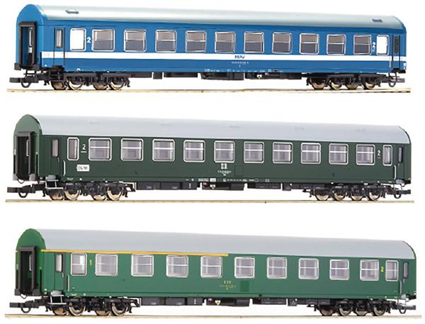 Roco 64196 - German 3 Piece Passenger Car Set TEE Adriatico No. 1 of the DR