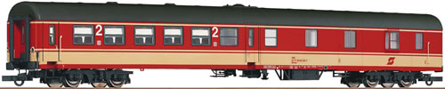 Roco 64428 - 2nd class center entry wagon with luggage compartment, ÖBB