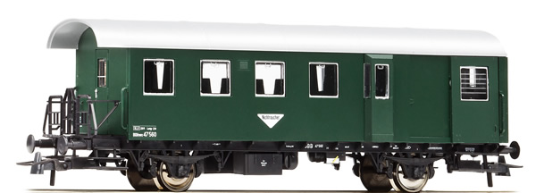 Roco 64482 - Austrian Ribbed Half Passenger and Half Luggage Car of the OBB