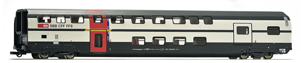 Roco 64853 - Swiss IC 2000 1st Class Double Deck Passenger Car with Service Compartment of the SBB