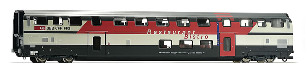 Roco 64854 - Swiss IC 2000 Double Deck Passenger Car with Bistro of the SBB