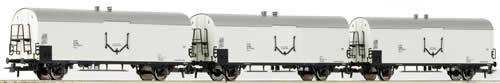Roco 66114 - 3 Piece Set: Refrigerator Wagons