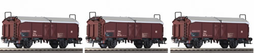 Roco 66154 - 3 Piece Set: Telescopic Hood Wagons