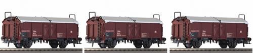 Roco 66154 - 3 Piece Set: Telescopic Hood Wagons