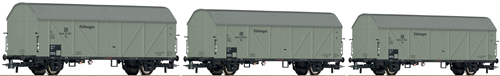 Roco 66197 - 3-piece set: Refrigerator wagons, DRG