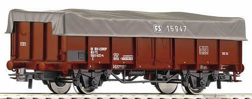 Roco 66412 - Open goods car with cover