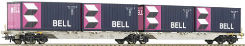 Roco 66448 - Double carrier wagon AAE, Bell