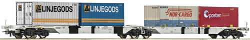 Roco 66601 - Double carrier wagon w. container, AAE