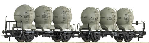 Roco 67016 - Double carrier wagon w. container, DB