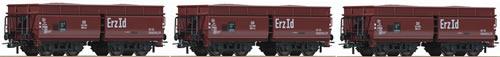 Roco 67059 - 3 piece set: Ore wagons, DB