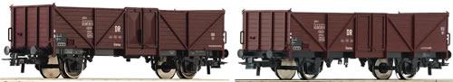 Roco 67061 - 2-piece set: Gondolas of the DR
