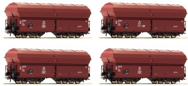 Roco 67083 - 4 piece set: Self Unloading Hopper Wagons