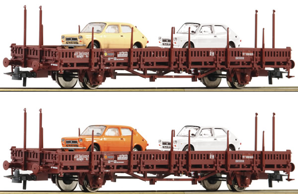 Roco 67086 - 2 piece set: Stake wagons, RENFE
