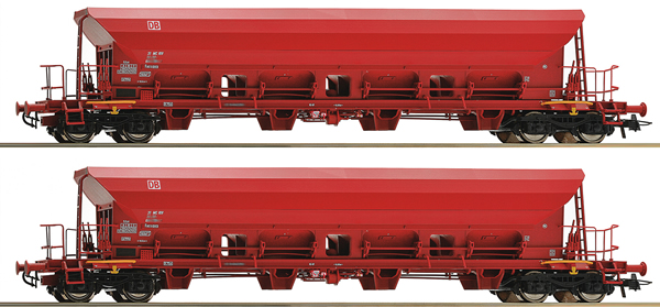 Roco 67087 - 2 piece set: Self Unloading Hopper Wagons