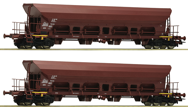Roco 67088 - 2 piece set: Self Unloading Hopper Wagons