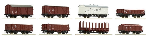 Roco 67127 - German 8 PIece Freight Car Set of the DR