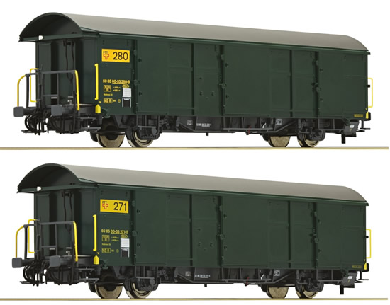Roco 67184 - 2pc Postal Wagon Set, SBB