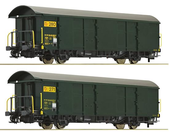 Roco 67184 - 2pc Postal Wagon Set, SBB