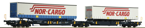 Roco 67389 - Articulated Double Pocket Wagon, RBSAF