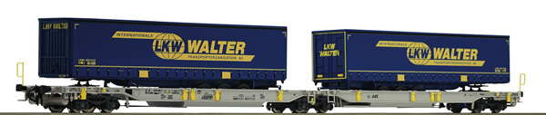 Roco 67398 - German container car LKW Walter of the AAE