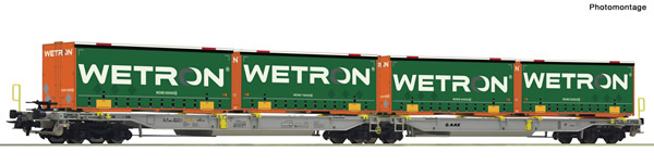 Roco 67401 - Articulated double pocket wagon + Wetron