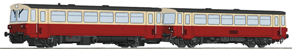 Roco 70373 - Czechoslovakian Diesel Railcar Class M 152.0 and caboose of the CSD  (DCC Sound Decoder)