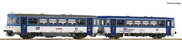 Roco 70379 - Diesel railcar 810 472-1 and caboose