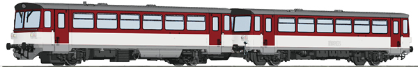 Roco 70382 - Slovakian Diesel Railcar Class 810 and caboose of the ZSSK