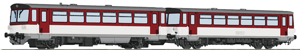 Roco 70383 - Slovakian Diesel Railcar Class 810 and caboose of the ZSSK (DCC Sound Decoder)