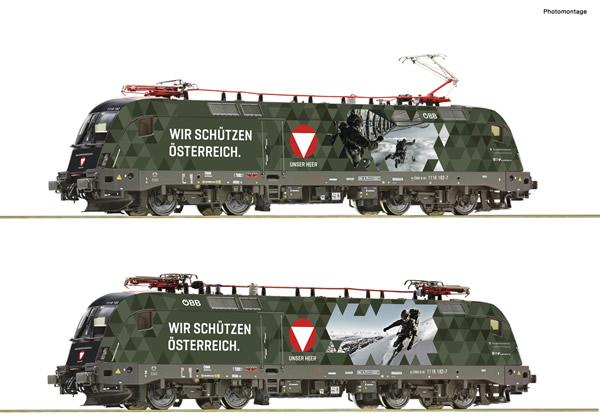 "Roco 70491 - Austrian Electric locomotive 1116 182-7 ""Bundesheer"" of the OBB"