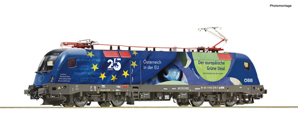 "Roco 70501 - Austrian Electric locomotive 1116 276-7 ""25 years of Austria in the EU"" of the OBB"