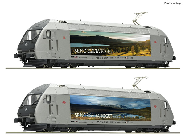 Roco 70659 - Norwegian Electric locomotive EL 18 2247 of the NSB (DCC Sound Decoder)