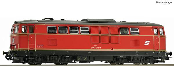 Roco 70714 - Austrian Diesel locomotive 2143 011-1 of the OBB (DCC Sound Decoder)