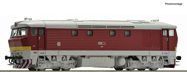 Roco 70921 - Czech Diesel locomotive class T 478.1 of the CSD (DCC Sound Decoder)