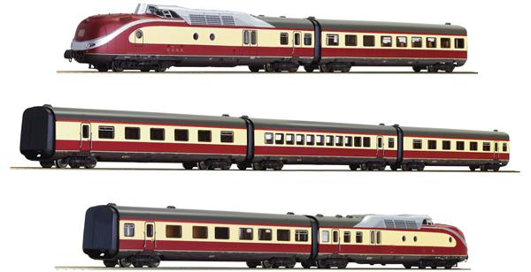 Roco 71935 - 7 piece set: German Diesel Multiple Unit Class 601 of the DB (DCC Sound Decoder)
