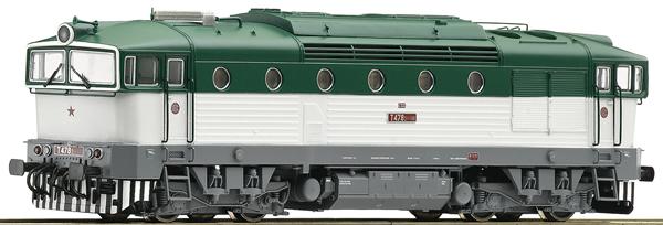 Roco 72051 - Czechoslovakian Diesel Locomotive Class T 478.3 of the CSD (DCC Sound Decoder)