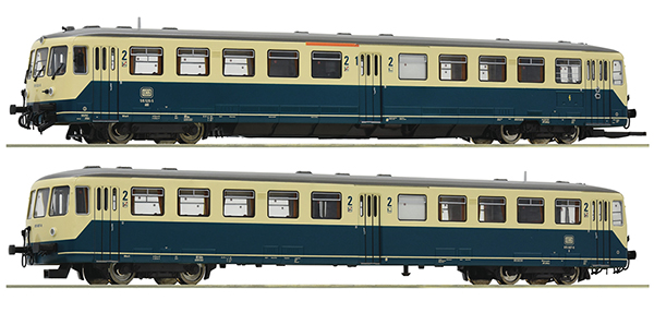Roco 72083 - German Accu Railcar Class 515 and control cab car of the DB