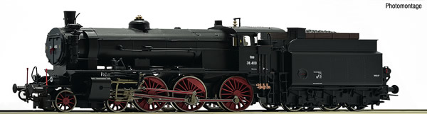 Roco 72125 - Austrian Steam locomotive class 38 of the ÖBB (DCC Sound Decoder)