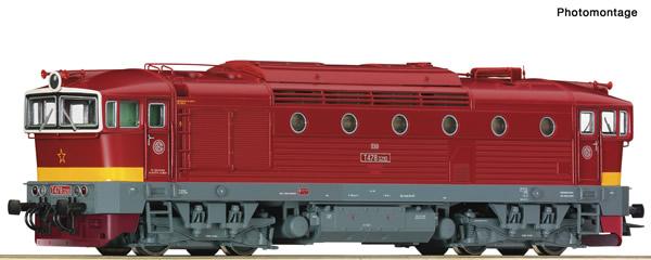 Roco 72947 - Czech Diesel locomotive class T 478.3 of the CSD (DCC Sound Decoder)