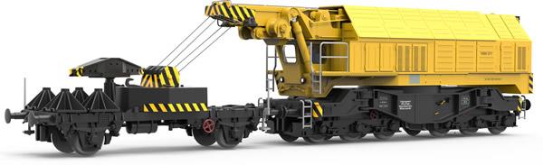 Roco 73035 - German Slewing Railway Crane for digital operation of the DB (DCC Sound Decoder)