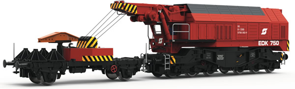 Roco 73036 - Austrian Slewing Railway Crane for digital operation of the ÖBB (DCC Sound Decoder)