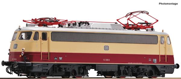 Roco 73077 - German Electric locomotive 112 309-0 of the DB (DCC Sound Decoder)