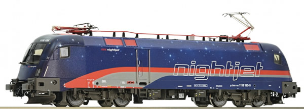 Roco 73241 - Austrian Electric Locomotive Class 1116 195 Nightjet of the OBB
