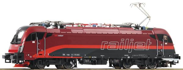 Roco 73248 - Austrian Electric Locomotive Rh 1216 Railjet of the OBB (Sound)