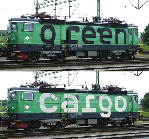 Roco 73457 - Swedish 2pc Electric Locomotive  Set Rc4, Green Cargo of the SJ (DCC Sound Decoder)