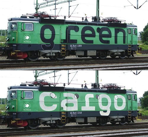 Roco 73457 - Swedish 2pc Electric Locomotive  Set Rc4, Green Cargo of the SJ (DCC Sound Decoder)