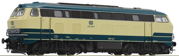Roco 73727 - German Diesel Locomotive  218 218-6 of the DB (DCC Sound Decoder)