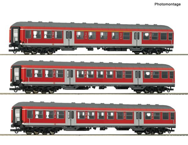 Roco 74050 - 3 piece passenger set: Regional train